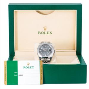 ROLEX DATEJUST 41 WATCH 126300 STAINLESS STEEL WITH GREY DIAL JUBILEE BRACELET