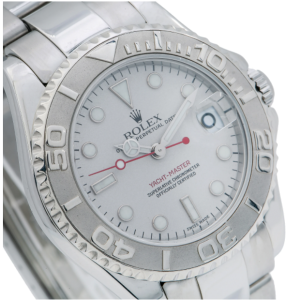ROLEX YACHT-MASTER 168622 35MM SILVER DIAL WITH STAINLESS STEEL OYSTER BRACELET