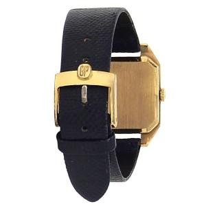 Girard Perregaux Vintage 18k Yellow Gold Leather Manual Champagne Men's Watch