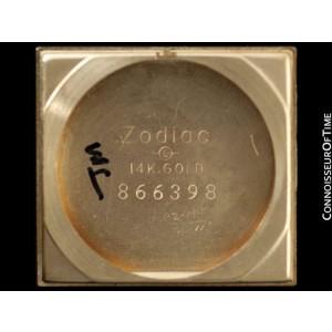 1940's Zodiac Vintage Mens Beautiful Hooded Lugs Watch - 14K Gold - Warranty
