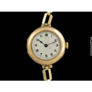 1920's Rolex Ladies Vintage Art Deco 9K Rose Gold Watch - 1 Year Warranty