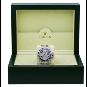 ROLEX SUBMARINER DATE 116610 40MM WATCH SAPPHIRE BEZEL DIAMOND BRACELET