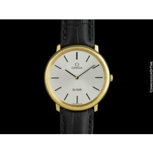 1978 OMEGA De Ville Vintage Mens 18K Gold Plated Watch - Mint with Warranty