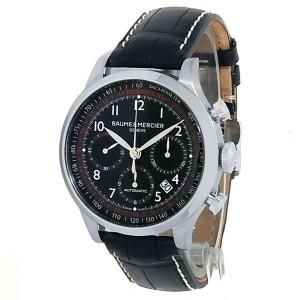 Baume & Mercier Capeland Stainless Steel Leather Auto Black Men's Watch