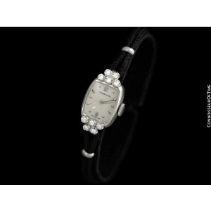 1950's TIFFANY & CO. Ladies Vintage Watch - 14K White Gold with Diamonds