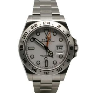 M'ens Rolex Explorer II, 42mm, Stainless Steel, White Dial, 216570