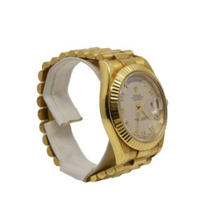 Men's Rolex Day-Date II 41, 18K Yellow Gold, Silver Arabic Numerals dial, 218238