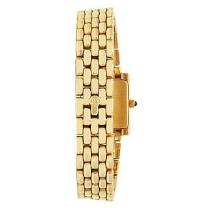 Movado 14k Yellow Gold Quartz Diamonds White Ladies Watch 75259433