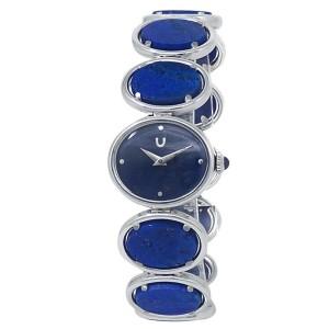 Universal Geneve Vintage 18k White Gold Manual Blue Lapis Ladies Watch