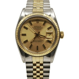 Men's Rolex Datejust 36, Steel and 18k Yellow Gold, Champagne Dial, 16013