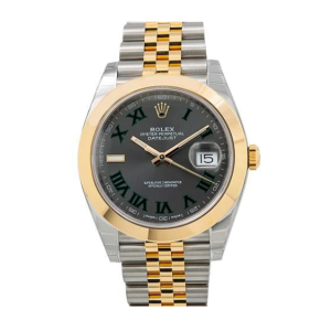 ROLEX DATEJUST 41MM WATCH 126303 STEEL AND YELLOW GOLD WIMBLEDON DIAL JUBILEE