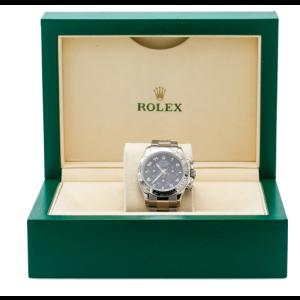 ROLEX DAYTONA WHITE GOLD WATCH 116509 40MM OYSTER BRACELET BLACK DIAL