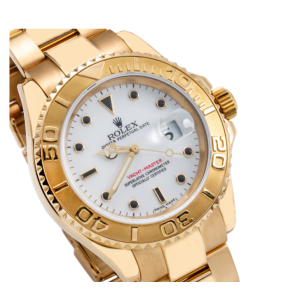 ROLEX YACHT MASTER YELLOW GOLD 16628 40MM IVORY DIAL