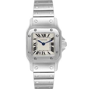 Cartier Santos Galbee Silver Dial Small Steel Ladies Watch W20056D6