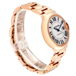 Cartier Ballon Bleu Rose Gold Silver Dial Ladies Watch W6920096