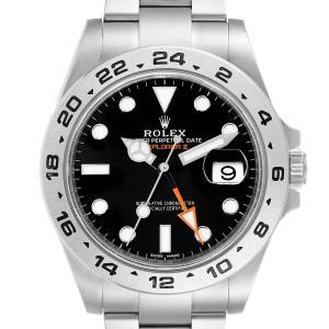 Rolex Explorer II 42 Black Dial Orange Hand Steel Mens Watch 216570