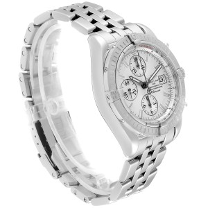 Breitling Chronomat Evolution Silver Dial Steel Mens Watch A13356