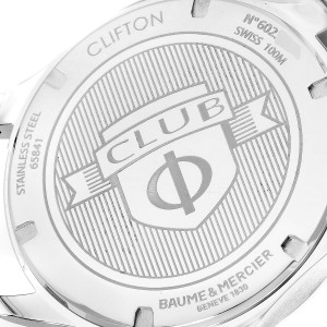 Baume Mercier Clifton Blue Dial Steel Mens Watch M0A10413 Box Card