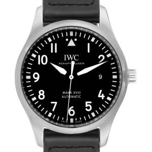 IWC Pilot Mark XVIII Black Dial Steel Mens Watch IW327001