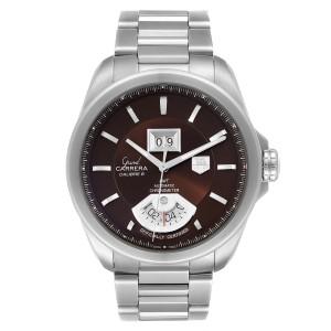 Tag Heuer Grand Carrera Grand Date GMT Brown Dial Mens Watch WAV5113