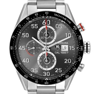 Tag Heuer Carrera Grey Dial Chronograph Mens Watch CAR2A11