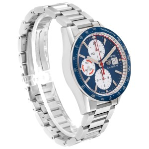 Tag Heuer Carrera Calibre 16 Chronograph Steel Mens Watch CV201AR