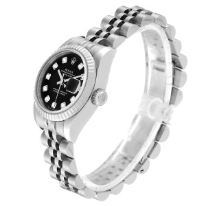 Rolex Datejust Steel White Gold Diamond Ladies Watch 179174 Box