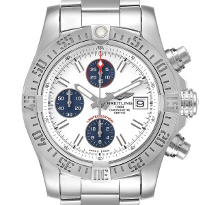 Breitling Aeromarine Super Avenger Mens Watch A13381 Box Papers