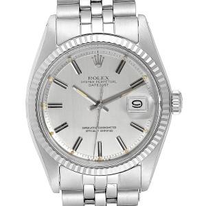 Rolex Datejust Steel White Gold Sigma Dial Vintage Mens Watch 1601