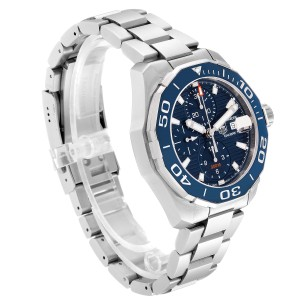Tag Heuer Aquaracer Blue Dial Steel Mens Watch CAY211B Box Card