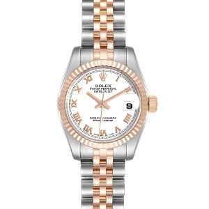 Rolex Datejust Steel Everose Gold Ladies Watch 179171 Box Card