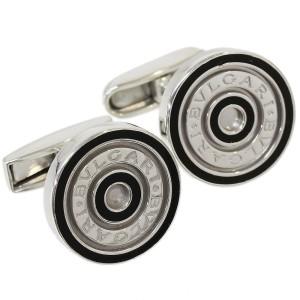 BVLGARI 925 Sterling Silver BB Cufflinks