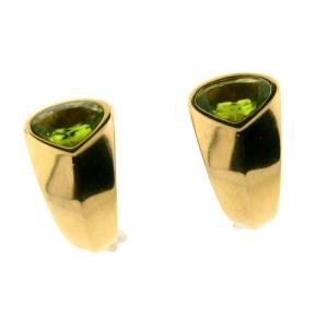 Marina B. 18k Yellow Gold & Peridot Earrings