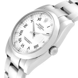 Rolex Date White Dial Oyster Bracelet Steel Mens Watch 115200