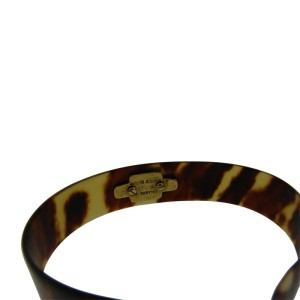 Cartier A. Cipullo 18K Yellow Gold Bakelite Bangle Bracelet
