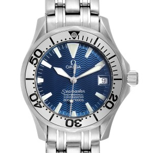 Omega Seamaster Midsize Steel Electric Blue Dial Watch 2554.80.00