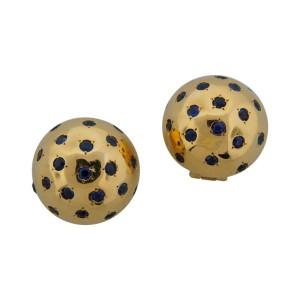 Van Cleef & Arpels Sapphire & Yellow Gold Ball Earrings