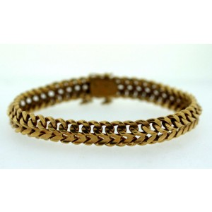 22K Yellow Gold Chain Link Bracelet