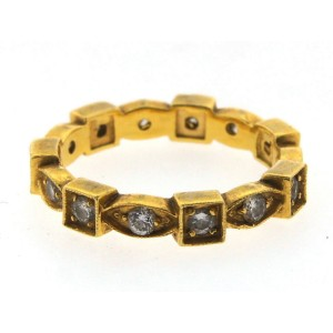 22K Yellow & White Gold & Diamond Bands
