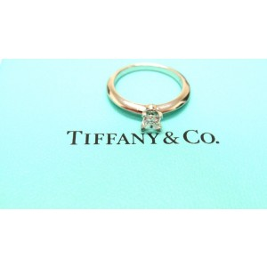 Tiffany & Co. Princess Platinum Engagement Diamond Solitaire Ring