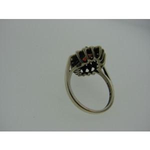 Kabana Sterling Silver Garnet Vintage Ring