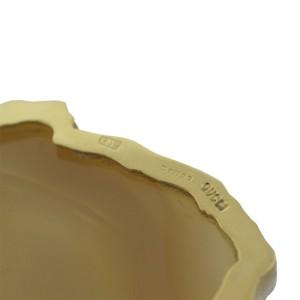 Gucci 18K  Yellow Gold Brown Onyx Pendant
