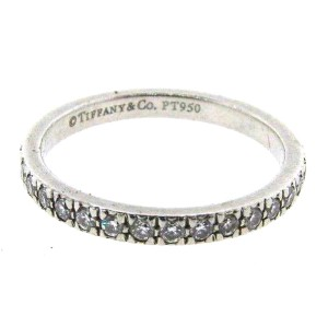 Tiffany & Co. Platinum & Diamond Band
