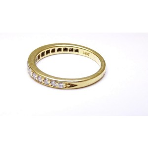 Tiffany & Co. 18K Yellow Gold Novo Half Circle Diamond Band