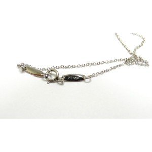 Tiffany & Co. Elsa Peretti Platinum Tear Drop Pave Diamond Necklace