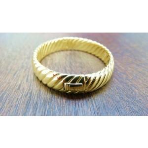 David Yurman 18K Yellow Gold Unique Cable Classic Bangle Bracelet