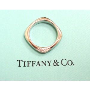 Tiffany & Co. 18K White Gold Cushion Diamonds Band Ring