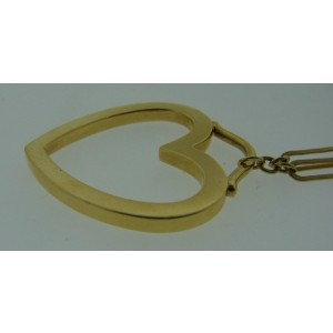 Tiffany & Co. 18K Yellow Gold Heart Necklace