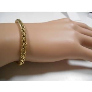 Tiffany & Co. 14K Yellow Gold Russian Braid Weave Bracelet