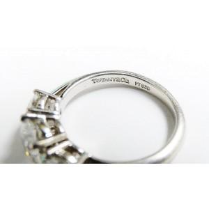 Tiffany & Co. Platinum 3 Stone Diamond Engagement Ring Size 5